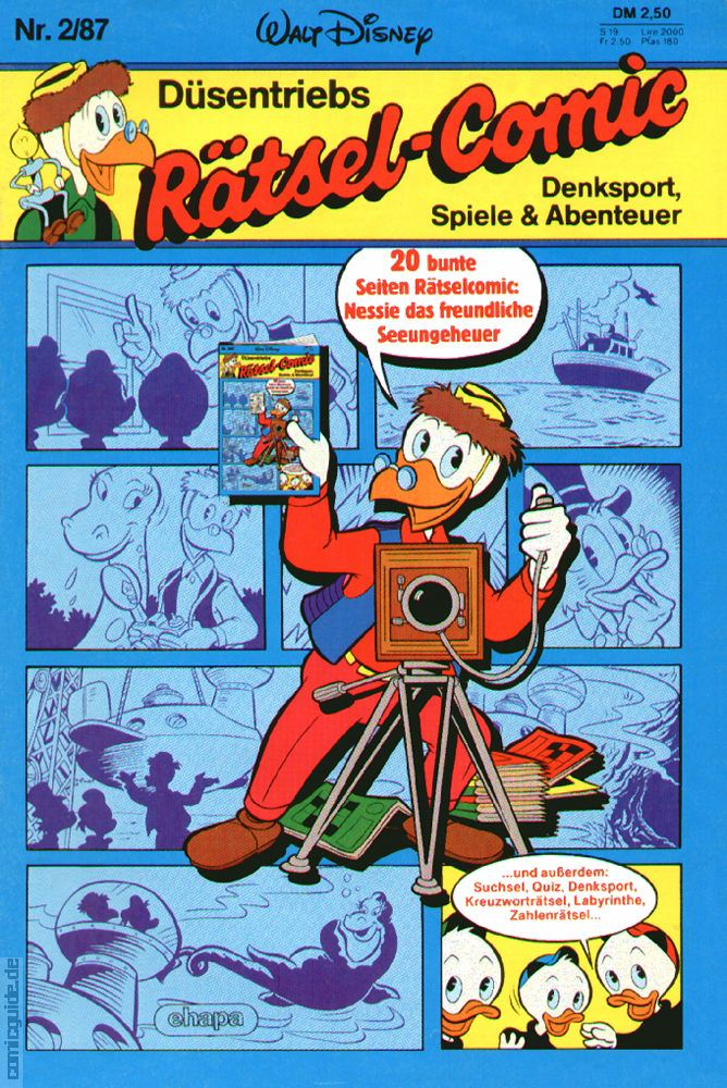 Comic Guide Düsentriebs Rätsel Comic